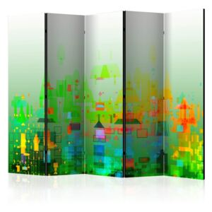 Paravento - Abstract City II [Room Dividers]