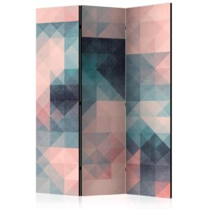 Paravento - Pixels (Green and Pink) [Room Dividers]