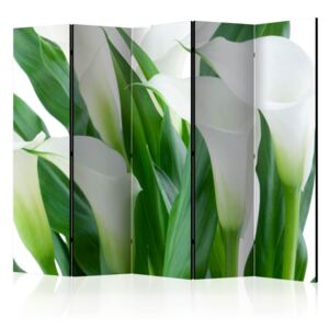 Paravento - bunch of flowers - callas II [Room Dividers]