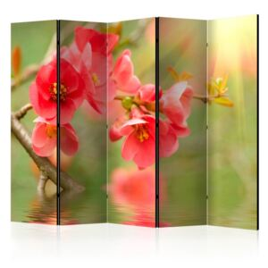 Paravento - Azalea reflected in the water II [Room Dividers]