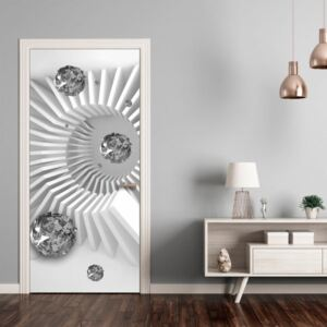 Fotomurale per porta - Photo wallpaper - Black and white abstraction I