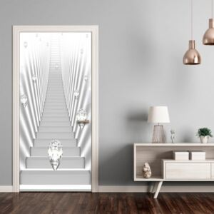 Fotomurale per porta - Photo wallpaper - White stairs and jewels I