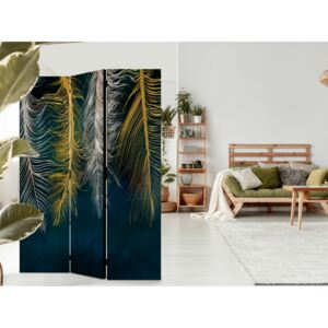 Paravento design Gilded Feathers [Room Dividers]