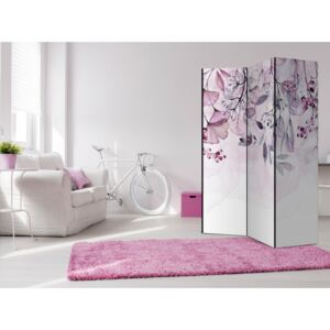 Paravento design Foggy Nature - Pink [Room Dividers]