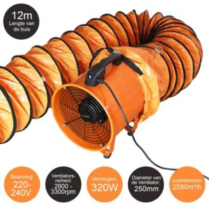 MonsterShop Maxblast 250mm / 300mm Dust Extractor With 6m Or 12m Duct