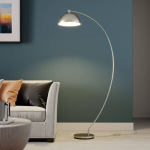 Lindby Zara LED ad arco con dimmer a pedale