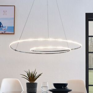 Lindby Lucy sospensione LED, 90cm, cristallo