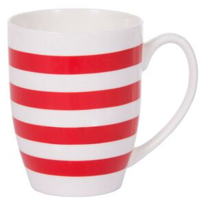 Mug in porcellana Glamour righe rosse 38 cl AMBITION