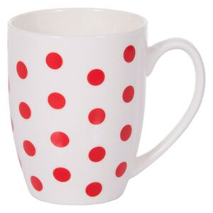Mug in porcellana Glamour pois rosso 38 cl AMBITION