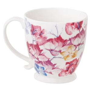 Mug in porcellana Garden Be Glamourous 48 cl fiori rosa AMBITION