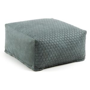 Kave Home - Pouf Indam 60 x 60 cm turchese