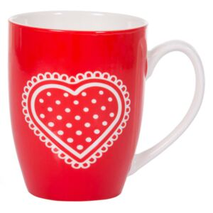 Mug in porcellana Glamour cuore bianco 38 cl AMBITION