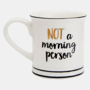 Sass & Belle bianco tazza Not a morning person