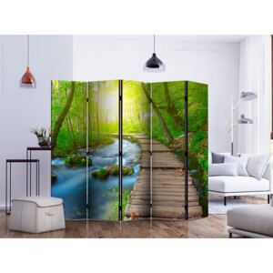 Paravento design Green forest II [Room Dividers]