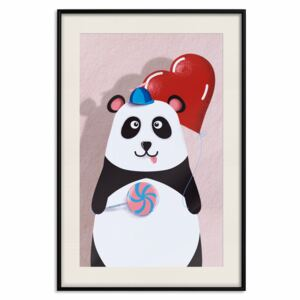 Poster: Panda with a Balloon [Poster]