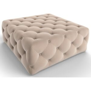 Chesterfield pouf VG3093, Colore: Beige